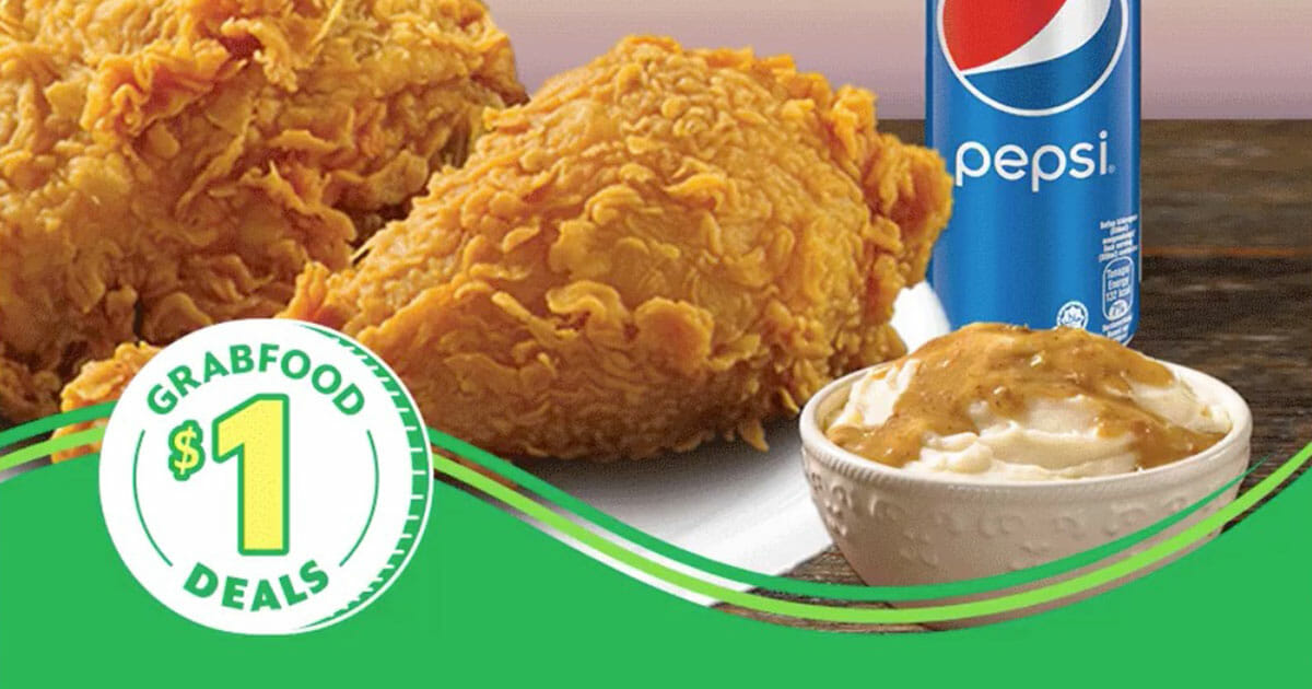 Pay just $1 for Popeyes 2pc Chicken Combo with drink and side on GrabFood this week (January 14 – 20)