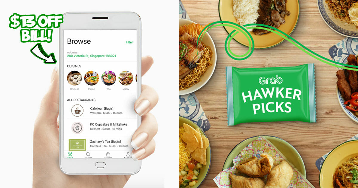 2 GrabFood Promo Codes this to save $13 on total bill or free delivery valid till January 27