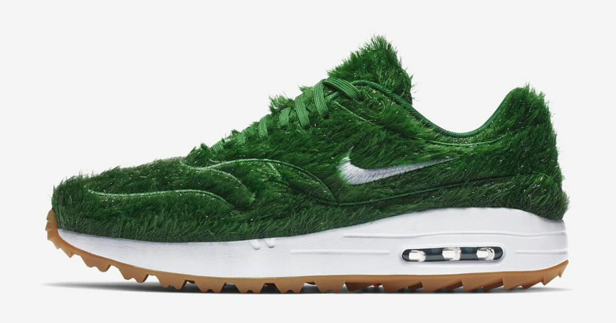 Nike made a pair of 'Grass' Air Max 1 Golf sneakers you can show off on the turf soon