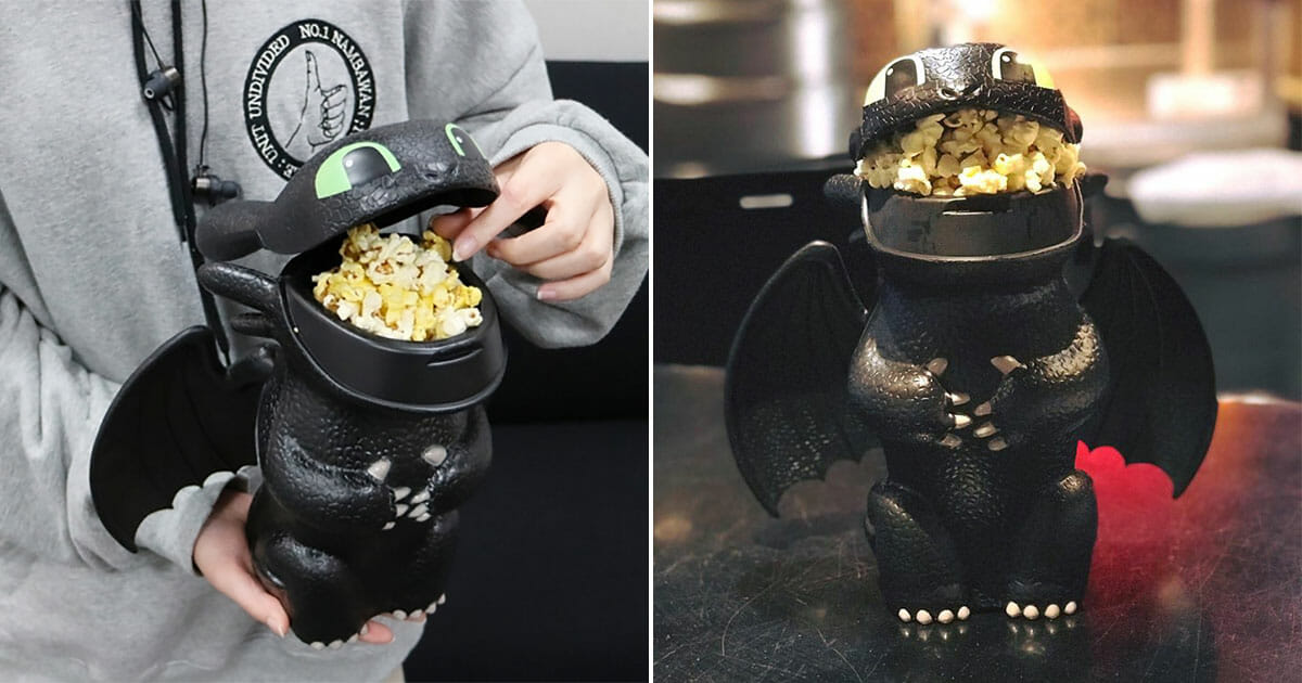 Shaw Theatres Now Selling Toothless Popcorn Bucket That