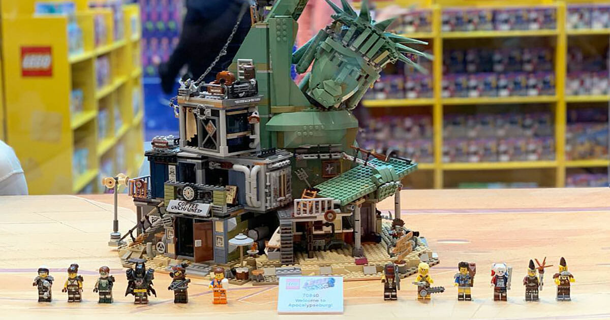 Massive The LEGO Movie 2 model 'Welcome to Apocalypseburg!' with over 3,000 pieces on display and sale at Vivocity