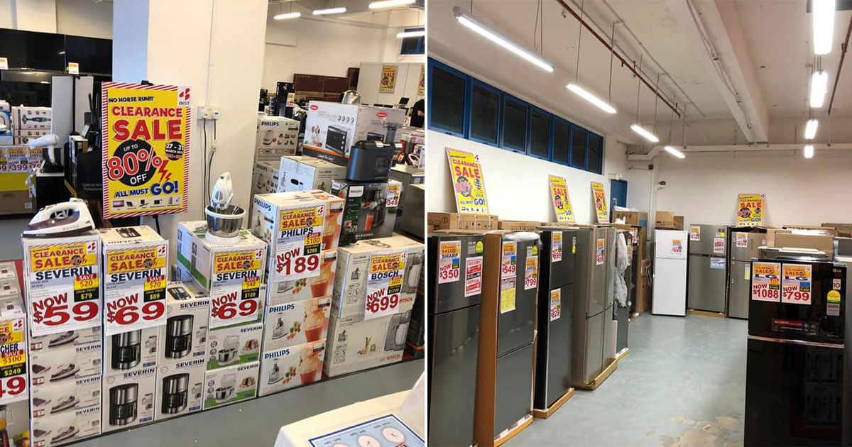 Best Denki is having a Clearance Sale at Tagore Lane till Mar 31. Find home & kitchen appliances and even iPads at huge discounts