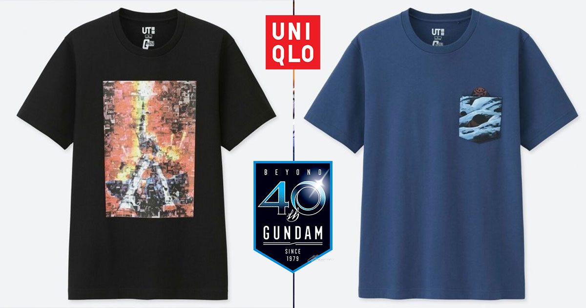 UNIQLO x Gundam 40th Anniversary T-shirts now available in stores at $19.90 a piece