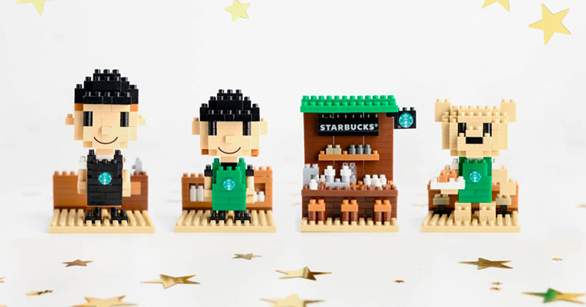 Starbucks S'pore launches new LEGO-like Mini Collectible Set from $16.90 each. There are 4 designs to choose from