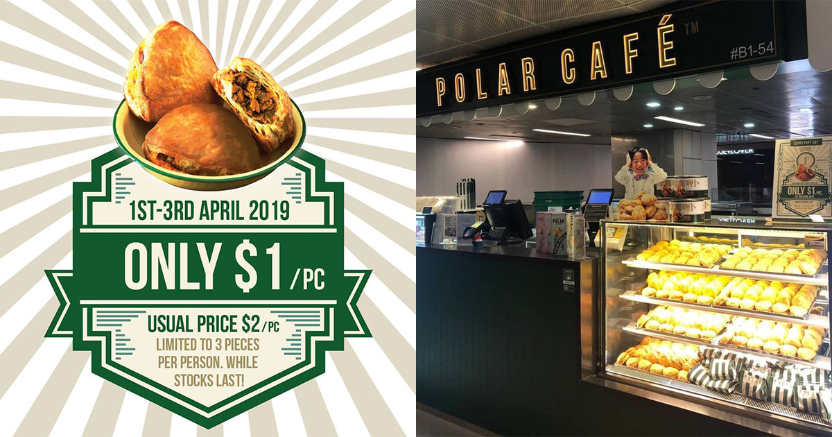 Pay only $1 for Curry Puffs at Polar Puffs & Cakes outlets from April 1 – 3 because #CurryPuffDay is here