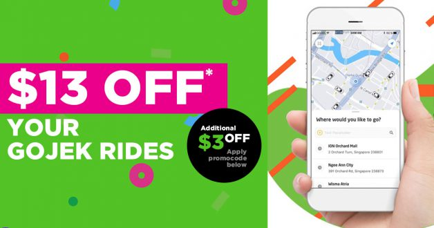 This new GOJEK Promo Code lets you enjoy a total of $13 off