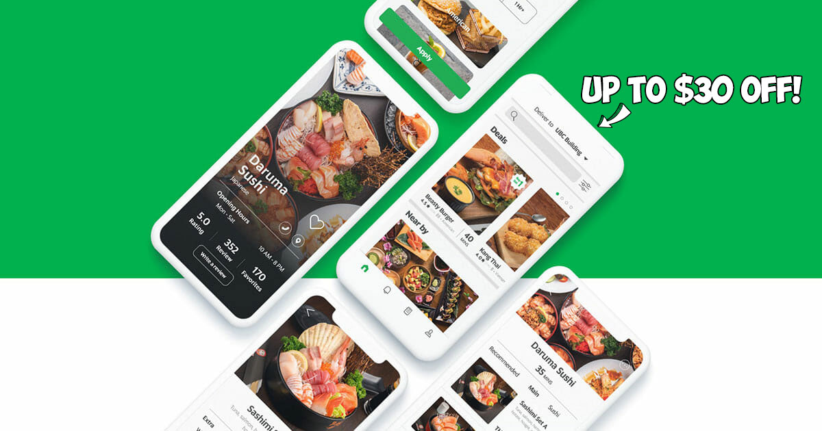 4 new GrabFood Promo Codes with discounts up to $30 on your order you can use till April 24