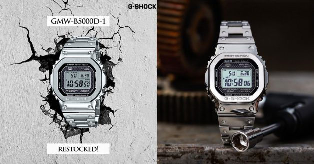 Casio S'pore restocks full-metal G-Shock GMW-B5000D-1 watch at all G-Shock boutiques