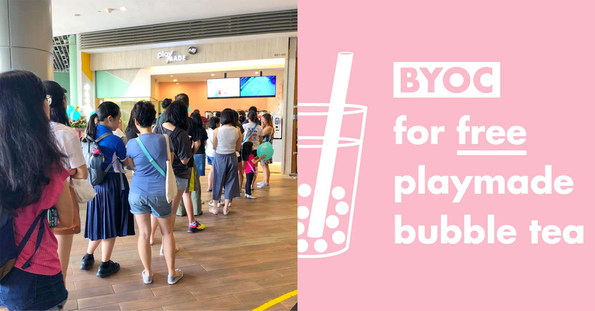 Taiwan's Playmade is giving out Free Bubble Tea on April 22 when you Bring Your Own Cup