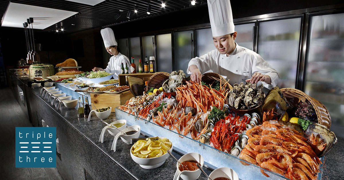 Enjoy 1-for-1 Lunch Buffet at Triple Three Mandarin Orchard including weekends with DBS/POSB or UOB cards
