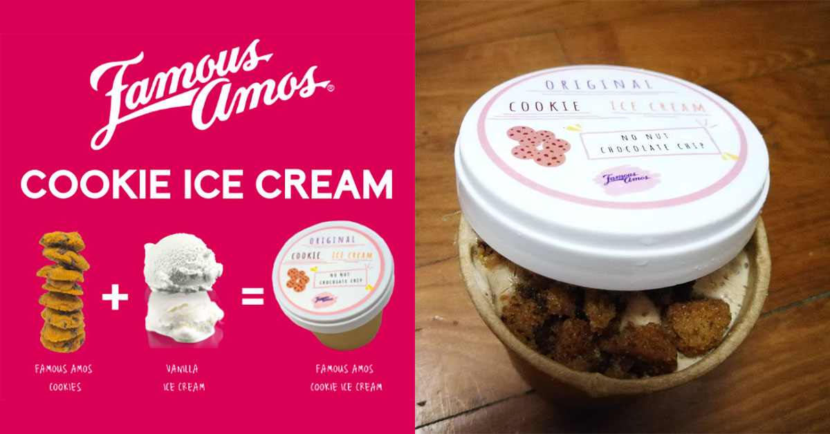 Famous Amos Cookie Ice Cream now a thing in Singapore. It costs $5 per tub at most outlets