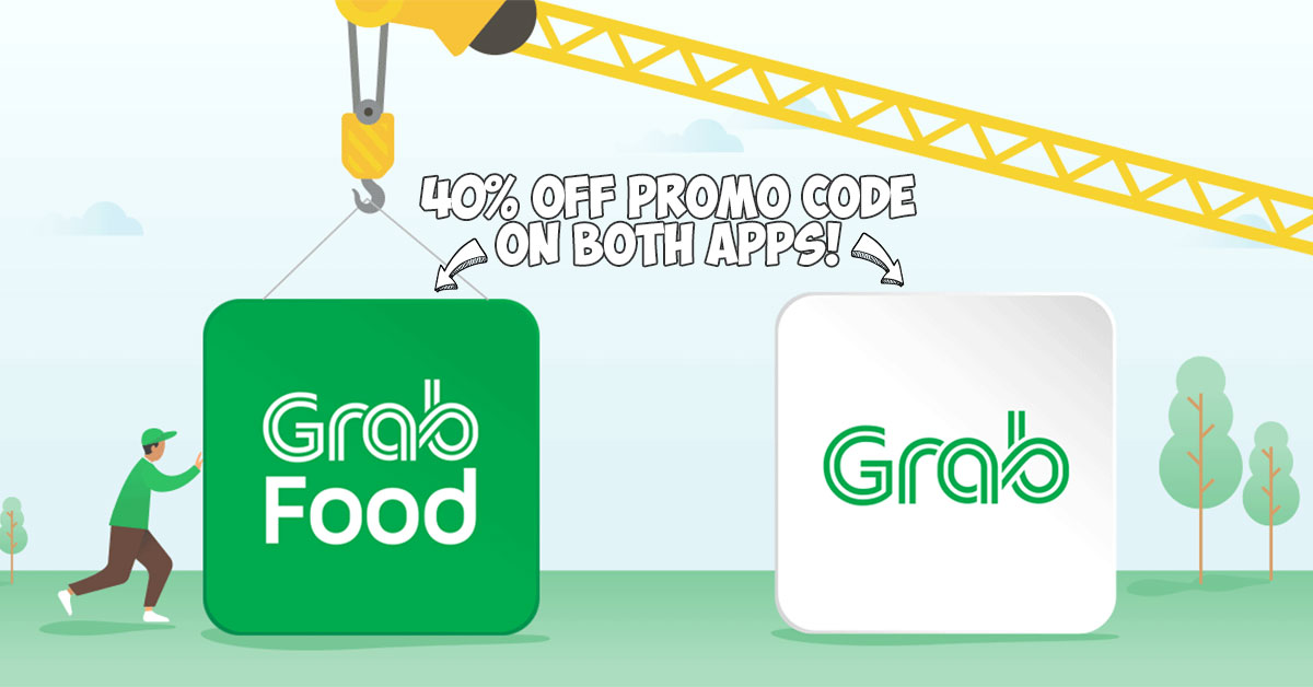 GrabFood is moving to become part of Grab so here's 40% off