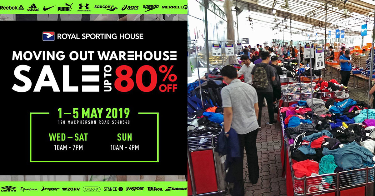 Royal Sporting House is moving warehouse with a sale up to 80% off on Nike, Adidas, Reebok, Under Armour & more