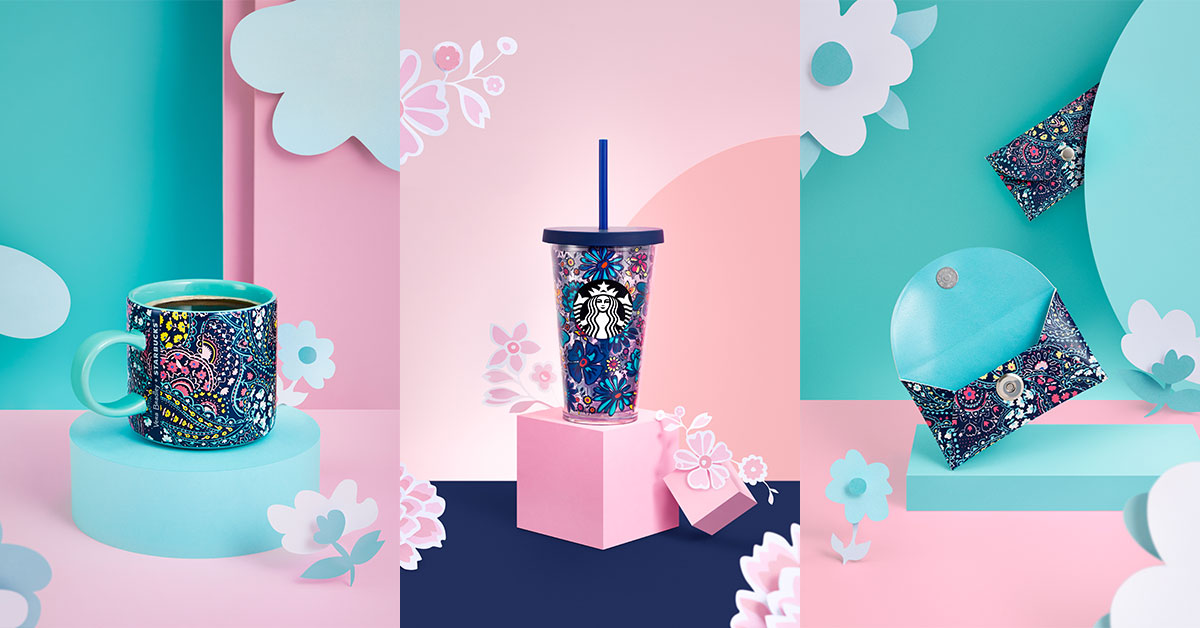 A vibrant new Starbucks x Vera Bradley Drinkware Collection is coming to stores in S'pore from 7 May