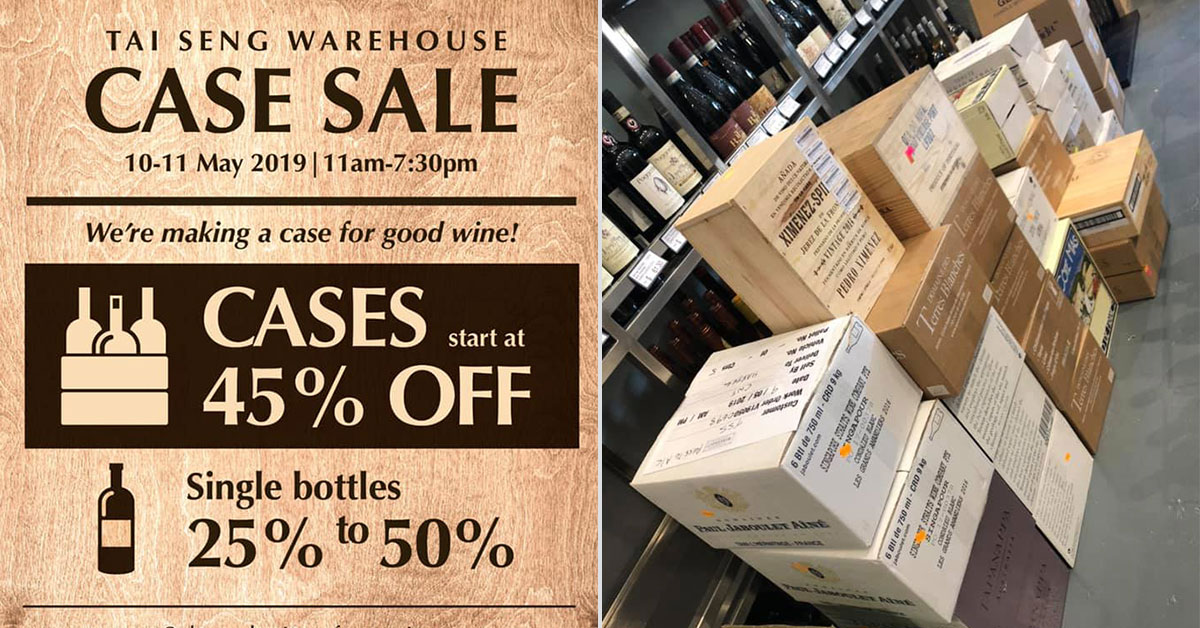 ea334bb25ee The Straits Wine Company now having  Tai Seng Warehouse Case Sale  on lots  of