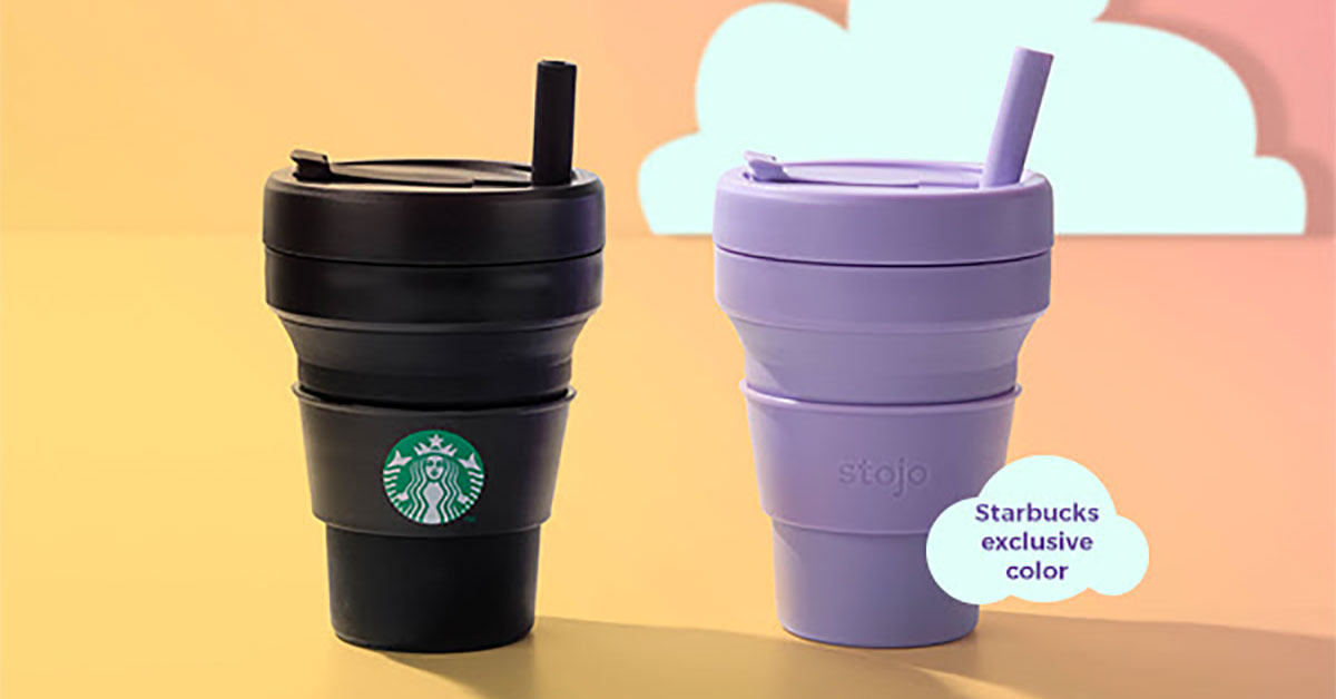 Starbucks x Stojo Collapsible Cups sold out so fast they are restocking them from May 13, this time in 2 new colours