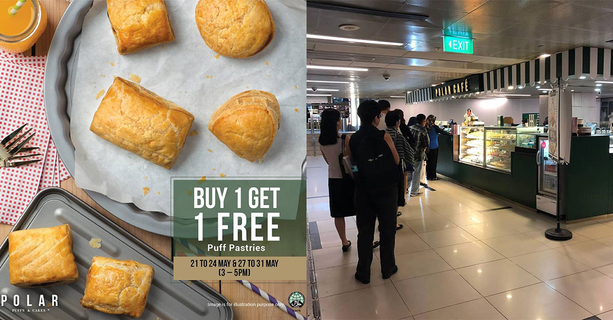Polar Puffs & Cakes to offer 1-for-1 Promotion on all baked pastries at their new VivoCity outlet till May 31