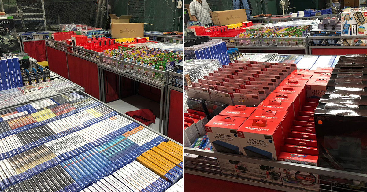This Toy & Game Warehouse Sale in Kaki Bukit has action figures, PS4 and Nintendo Switch titles as low as $9