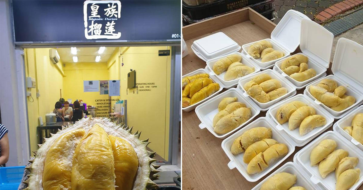 $38 Durian Buffet in Bedok North lets you enjoy unlimited Mao Shan Wangs for 90 minutes