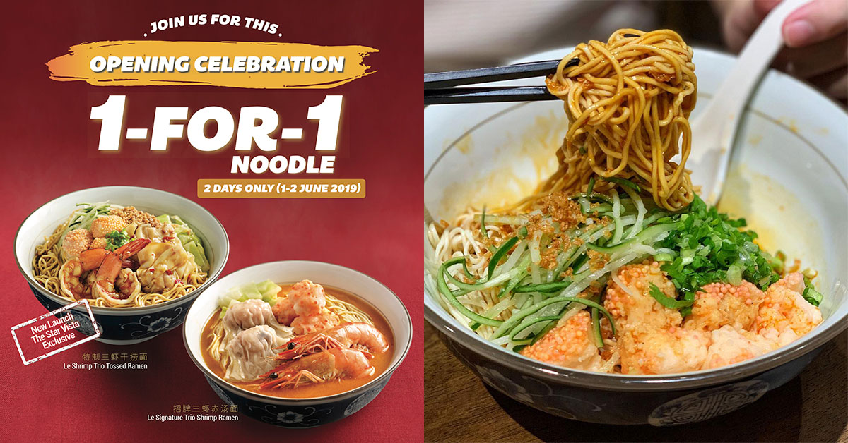 Le Shrimp Ramen opens two more outlets, offers 1-for-1 Promotion this weekend till June 2