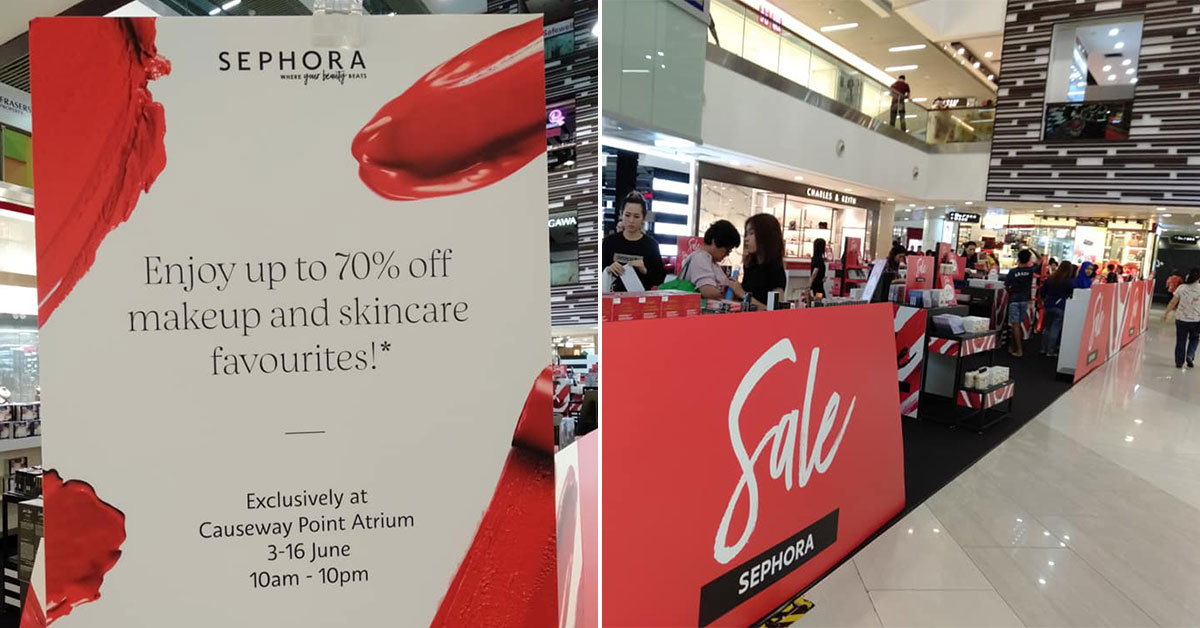 Sephora now having an Atrium Sale at Causeway Point till June 16, offers up to 70% off beauty products
