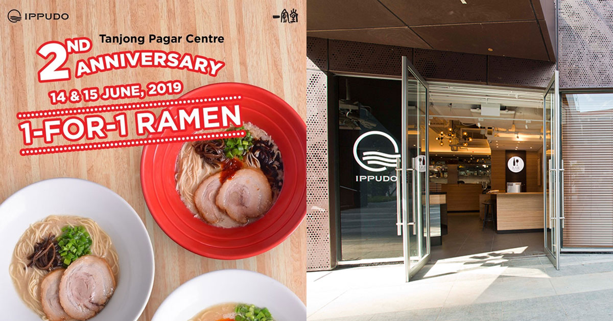Ippudo Ramen Tanjong Pagar Centre turns 2, offers 1-for-1 ramen on June 14 & 15 in celebration