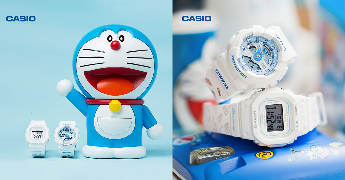 Casio is releasing two Doraemon x Baby-G watches. It even comes with a Dorameon watch box action figure