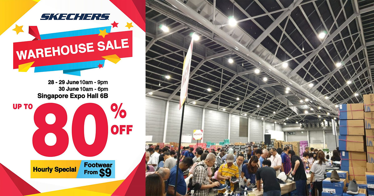 First ever official Skechers Warehouse Sale at Expo has footwear from $9 till this Sunday