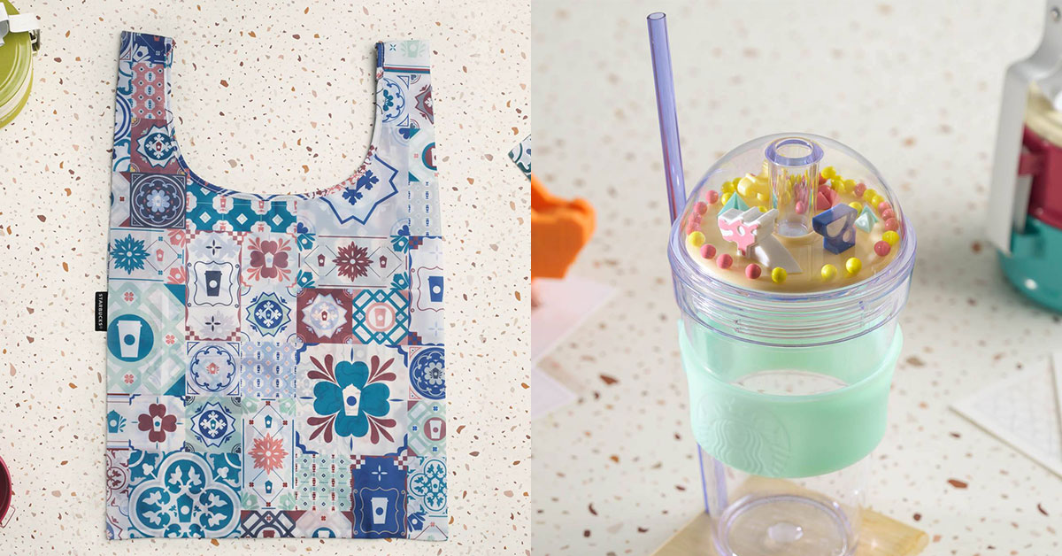 Starbucks S'pore has National Day merchandise inspired by Peranakan designs and local icons