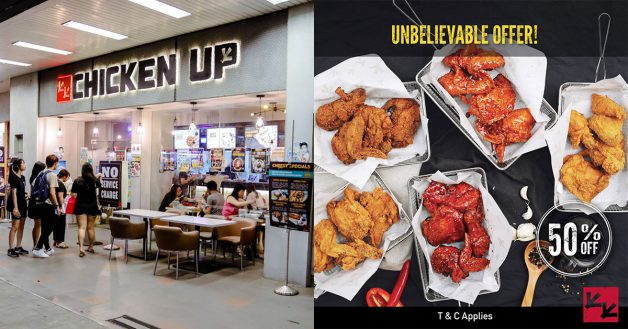 49cb0a35f02bf8 Chicken Up to offer 50% off Korean Fried Chicken daily at Buangkok outlet  till end-July