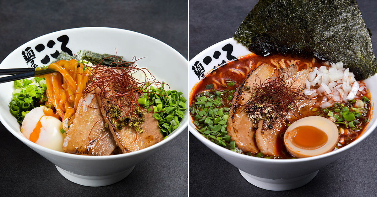 Menya Kokoro is launching S'pore's first Mala Mazesoba & Ramen dishes at their new 100AM outlet