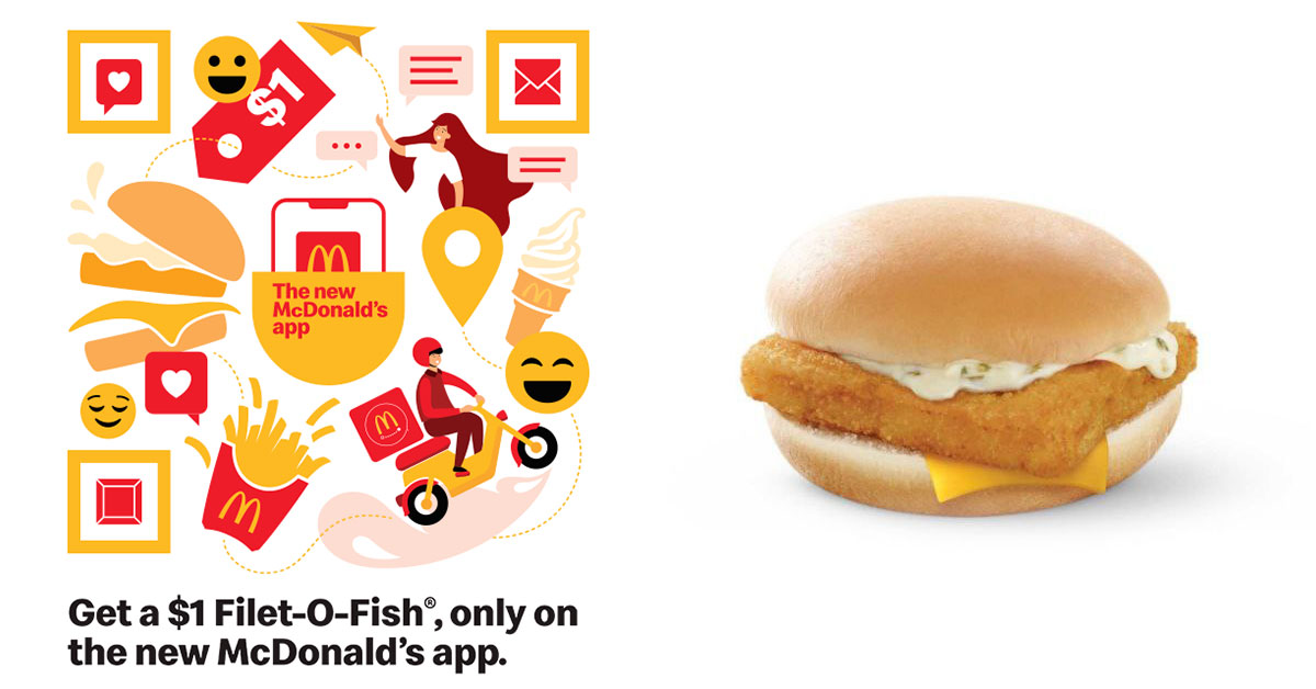 Here's how to redeem a Filet-O-Fish Burger for only $1 with McDonald's S'pore new app