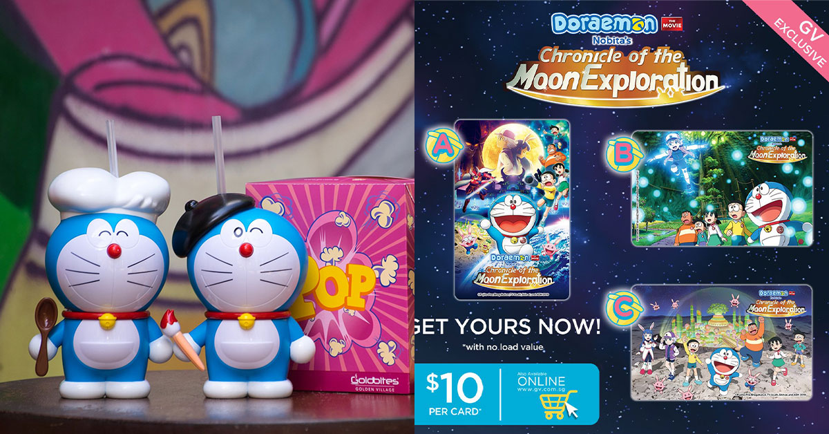 GV Cinemas now selling Doraemon Tumblers and EZ-Link Cards based on its latest movie