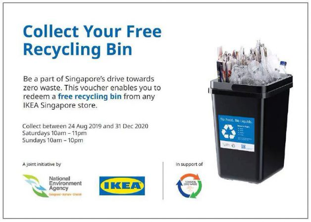IKEA S'pore is giving away free Recycle Bins to new BTO homeowners