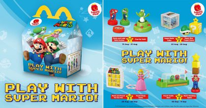Super Mario Happy Meal Toys now available at McDonald's S'pore weekly till September 11