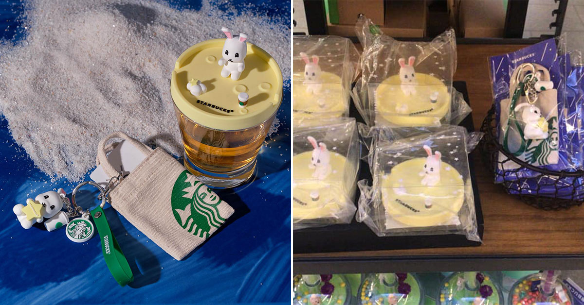 Starbucks has new Bunny Keychain Set and a Rabbit Cup Lid that doubles up as a phone holder