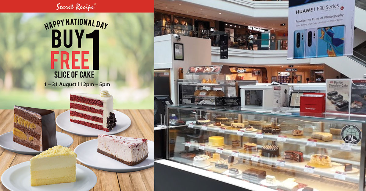Secret Recipe S'pore has 1-for-1 Cake Slices for entire month of August in National Day Celebration