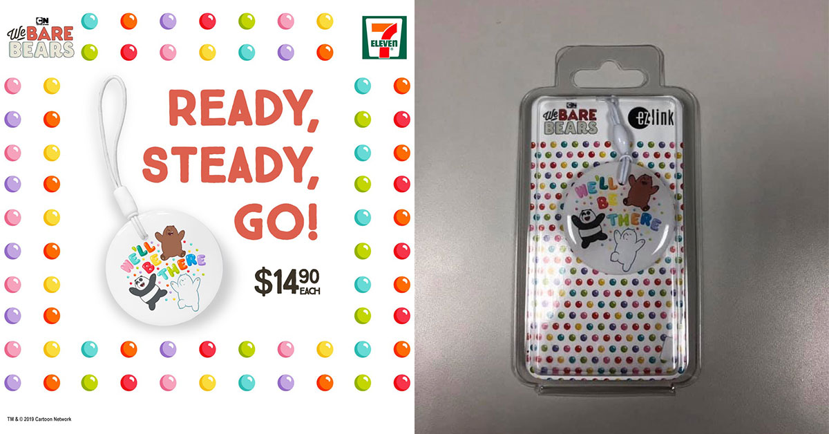 We Bare Bears EZ-Charm to go on sale at 7-Eleven stores on August 29 at $14.90 each