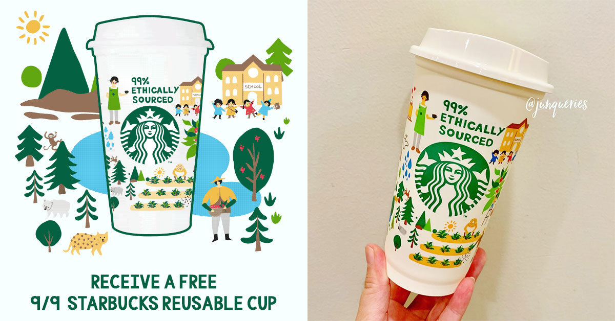 Starbucks is giving away this Reusable Cup for free with any handcrafted coffee drinks purchase on Sept 9