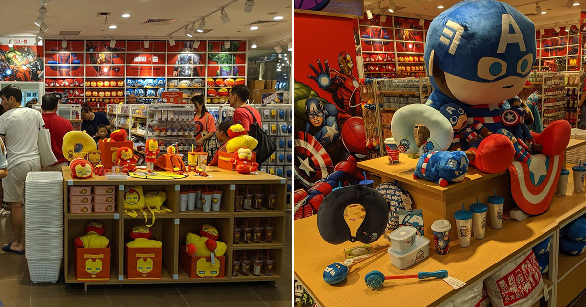 Some Miniso stores updated with new Marvel merchandise including tumblers, plush toys, accessories & more