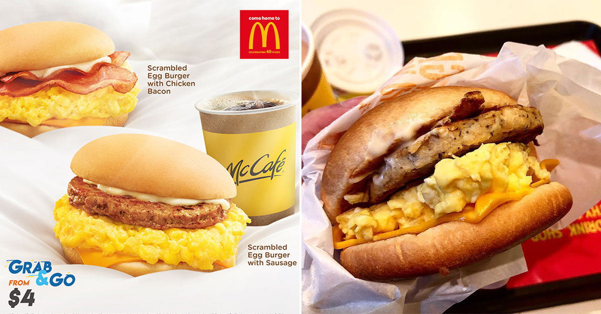 McDonald's Scrambled Egg Burgers are coming back on Sept 26. Grab & Go with coffee for only $4