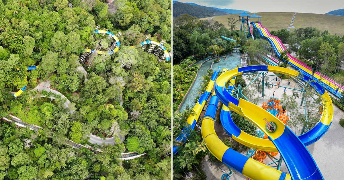 Escape Theme Park in Penang has an insane 1.1km long Water Slide that goes through a rainforest