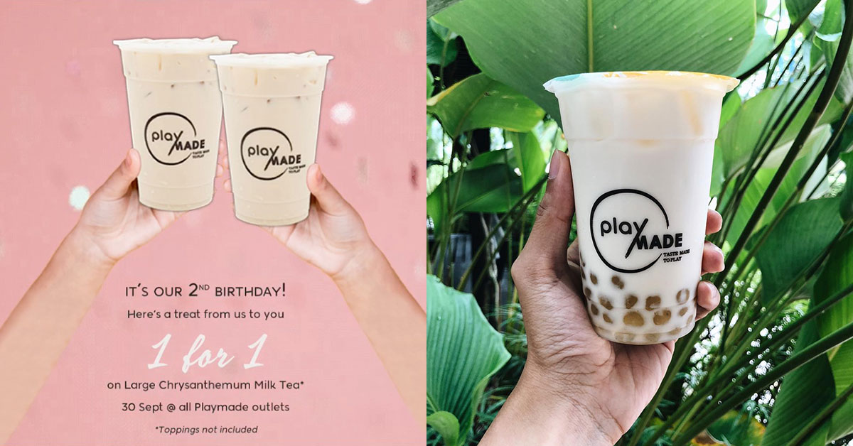 Playmade turns 2 in S'pore, celebrates with 1-for-1 Chrysanthemum Milk Tea all-day at all outlets on Sept 30