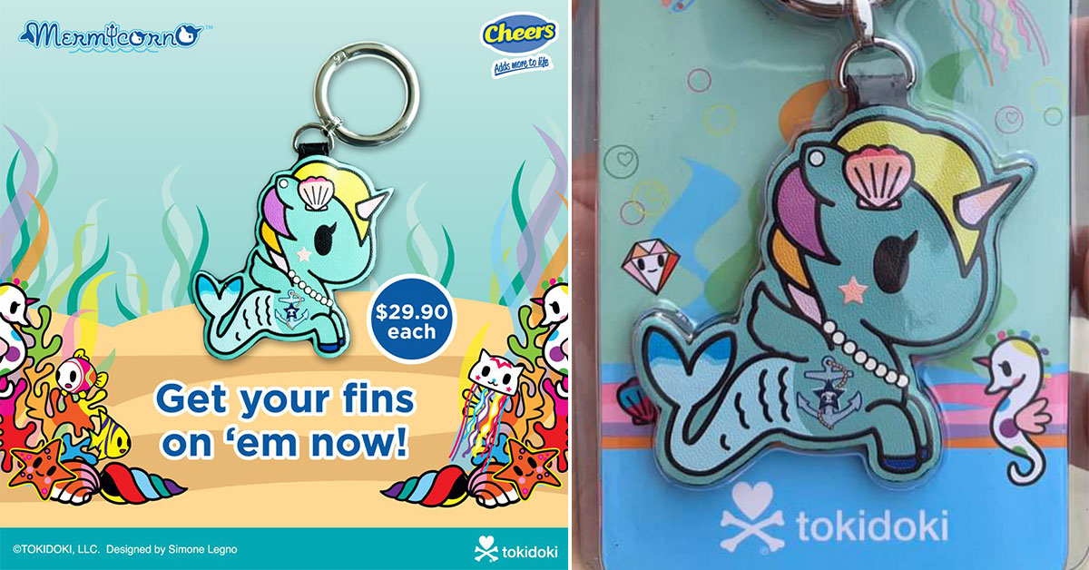 EZ-Link's new mermaid unicorn Tokidoki Charm now available at Cheers outlets for $29.90 each
