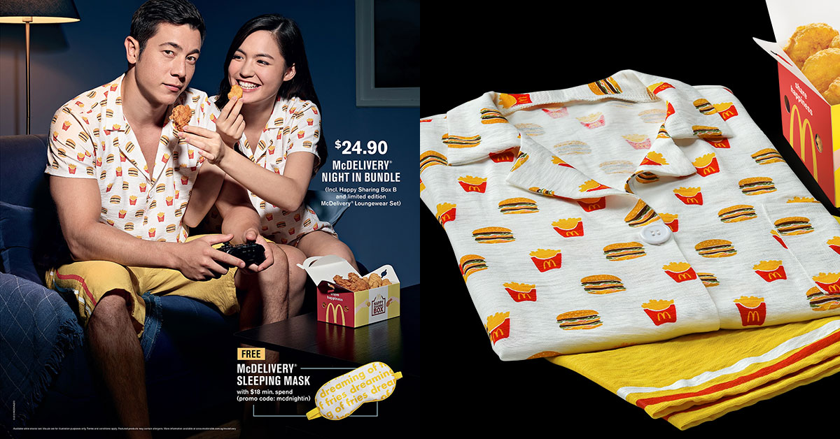 McDonald's S'pore launching new Loungewear Collection with burger & fries motifs from Oct 7