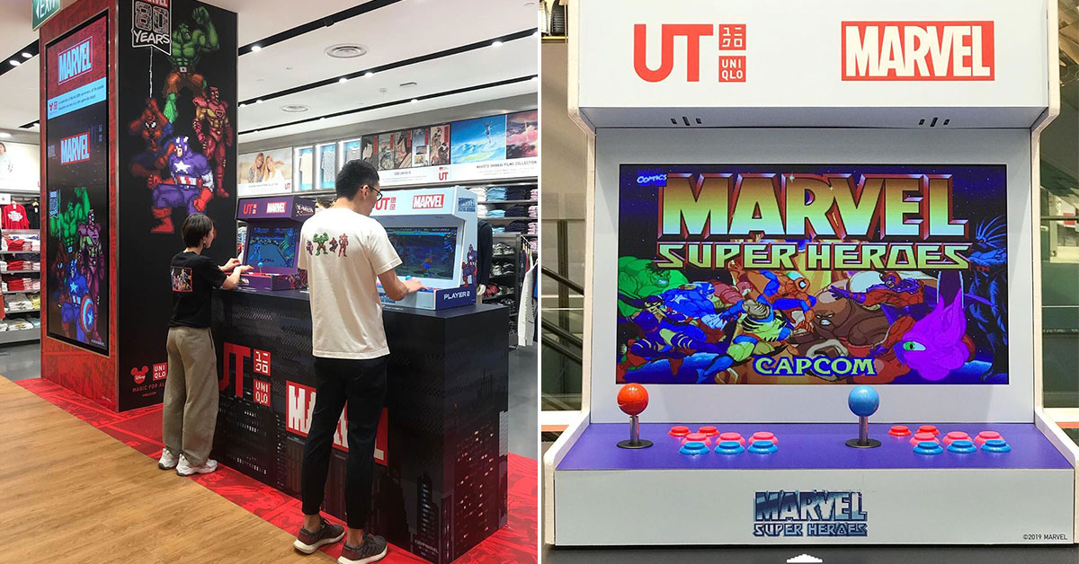 Uniqlo S'pore is giving away 4 sets of Marvel Retro Arcade Machines worth $900 each. Here's how to win one