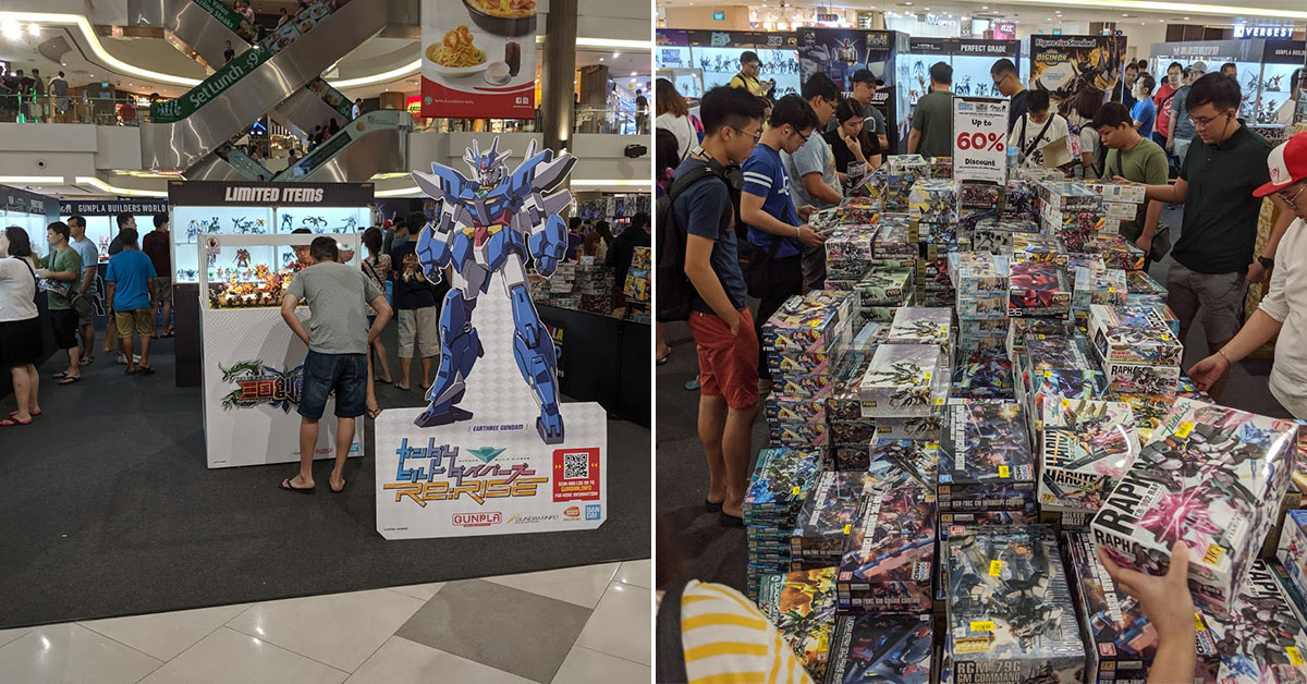 There's a Gundam Exhibition in Compass One till Oct 27 with action figures & model kits up to 60% off