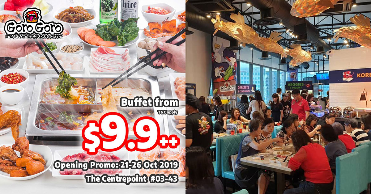 GoroGoro Steamboat & Korean Buffet opens in Centrepoint, offers $9.90 opening promotion till Oct 26