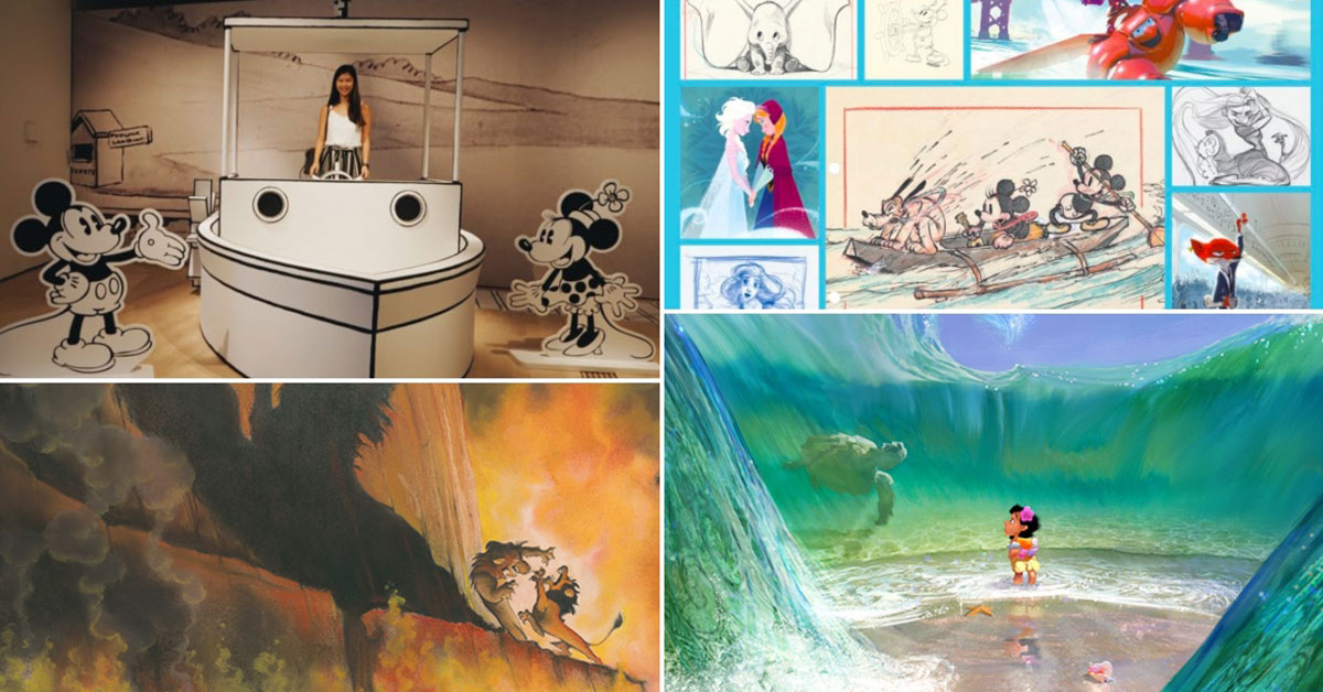 Disney Animation Exhibition in ArtScience Museum has over 500 art pieces & drawings from Frozen 2, Snow White, Moana & more