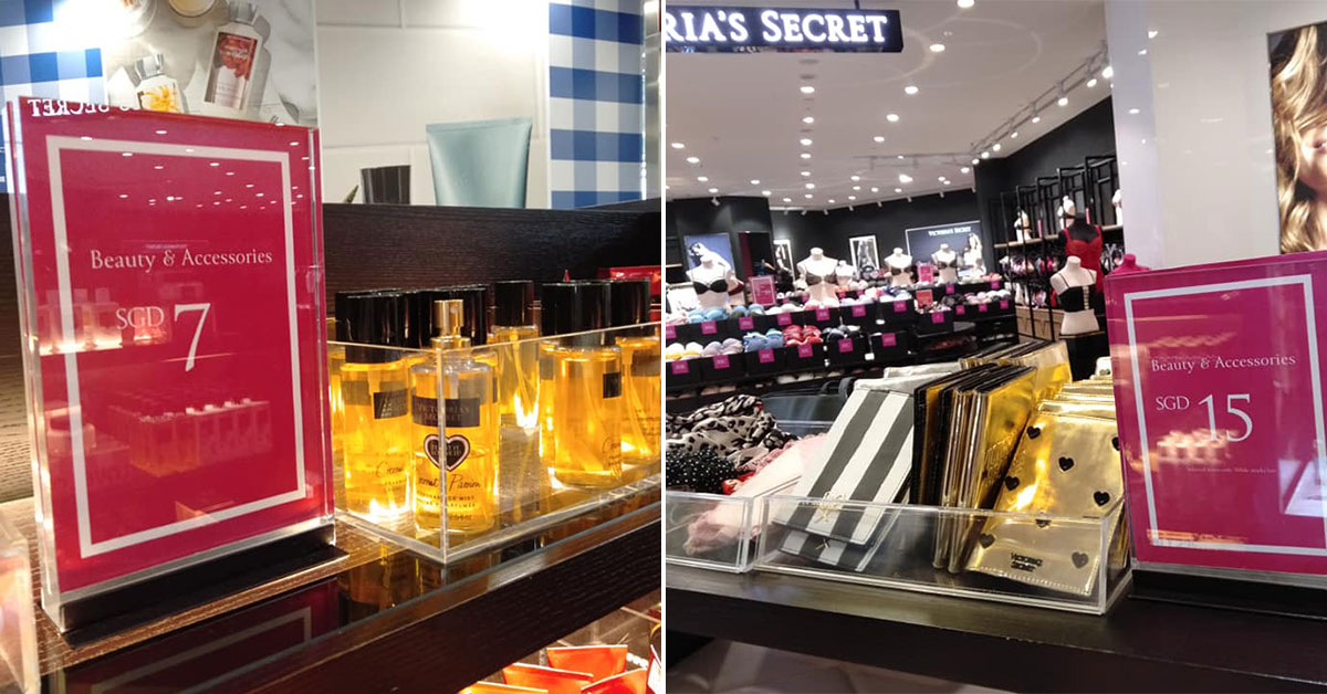 Victoria's Secret Outlet Sale in IMM has beauty products, bags and lingerie with prices as low as $7